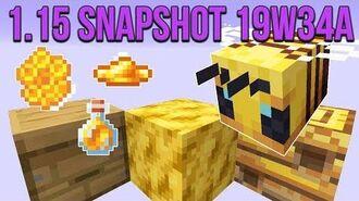 Minecraft 1.15 Snapshot 19w34a Bees In Minecraft! Bee Nest, Hive, Honeycomb & Honey!
