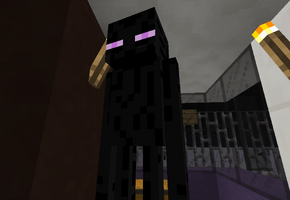 An Enderman inside of an Orion V bus (6333)