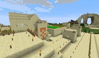 Bugged temple to npc village