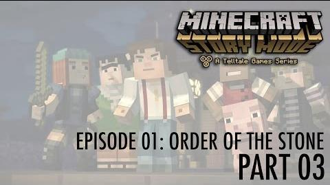 Let's Play Minecraft - Story Mode! Episode 01- Order of the Stone (part 03) Into the basement