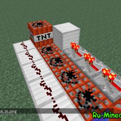 376x376px|Механизм из блоков ТНТ.