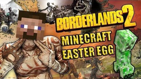 Пасхалка из Minecraft в Borderlands 2!