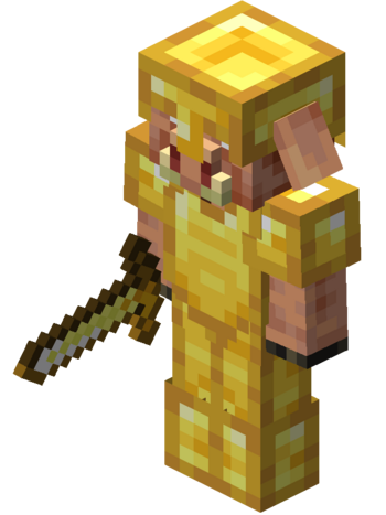 In full Gold Armor with a Sword