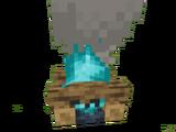 Костёр с огнём душ
