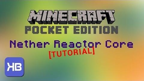 Minecraft PE - How to use the Nether Reactor Core TUTORIAL - Updated!