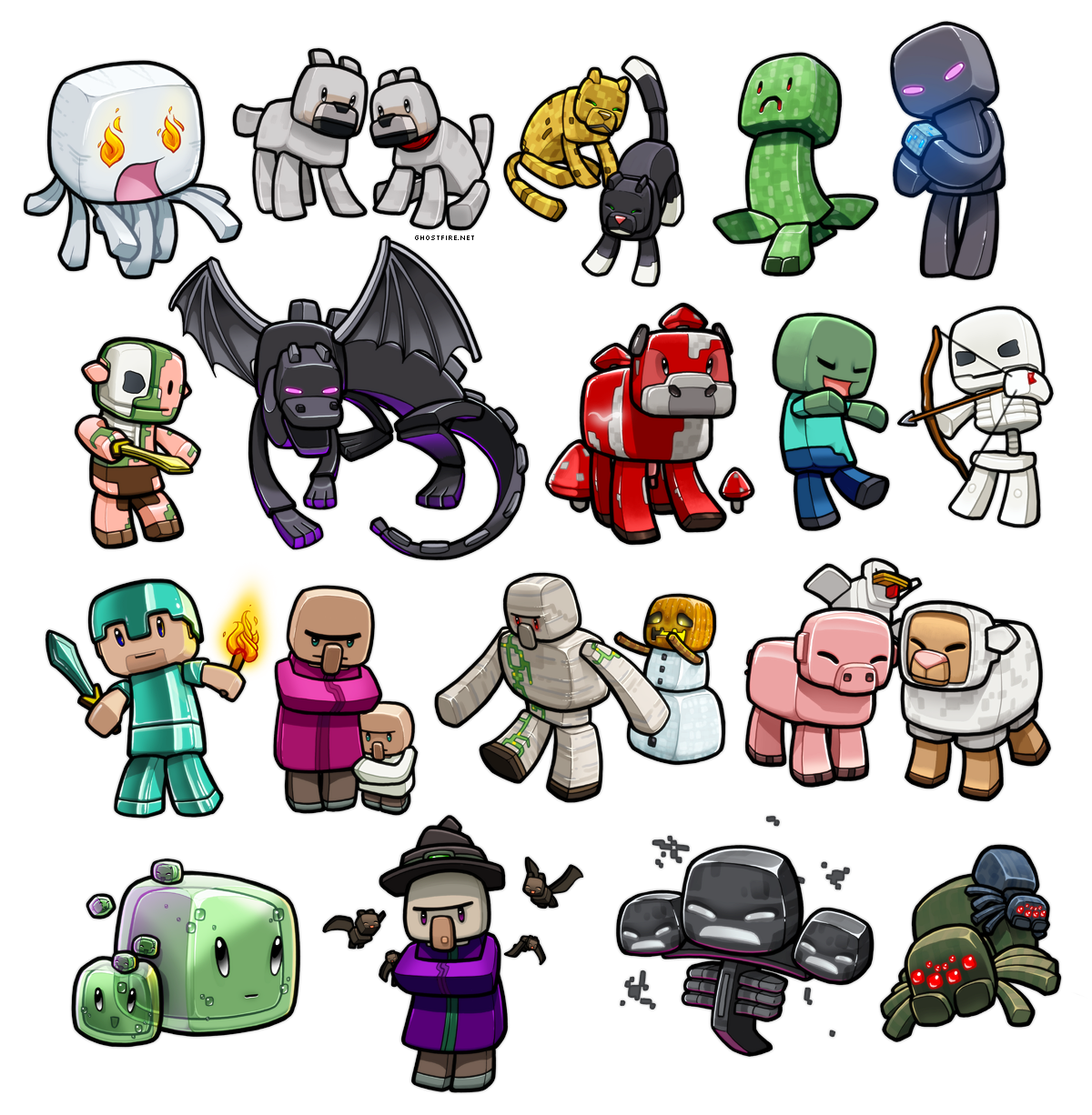 Image - Minecraft Chibies 3.png | Minecraft Wiki | FANDOM powered ... for All Minecraft Characters  103wja