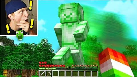 FINDING GIANT GREEN STEVE IN MINECRAFT!-1