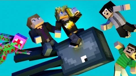 "♫ ""THE SQUID"" - Minecraft Parody of Ylvis - The Fox (ft. MlgHwnT, GizzyGazza, GoldSolace & Kuledud3)"