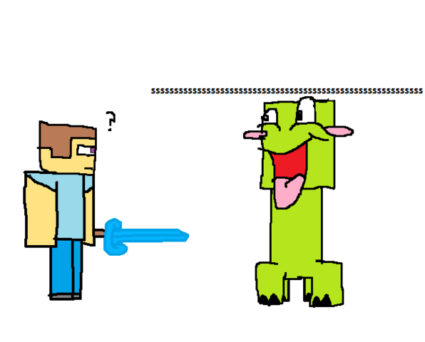 File:Steve and creeper.png