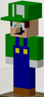 Luigi in Minecraft
