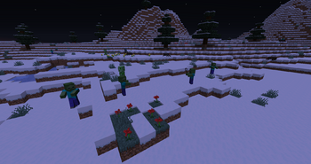 Mobs in snow biome
