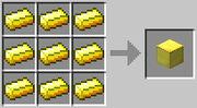 Crafteo de bloque de oro pc