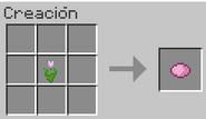 Creacion del tinte rosa con tulipan rosa