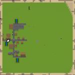 Aldea en un mapa