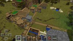 Bloque de caminos en aldeas