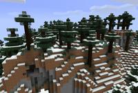 Taiga fría con colinas
