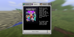 MCPE Realms screen