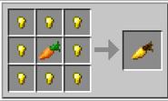 Crafteo de una zanahoria dorada