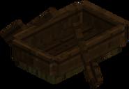 Bote de roble oscuro