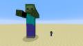 Un gigante al lado de un zombi normal