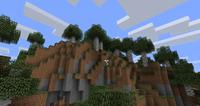 Bosque de abedules con colinas