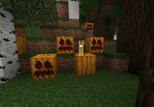 Calabazas generadas en un bosque