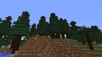 Taiga de secoyas con colinas M