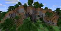 Bosque con colinas