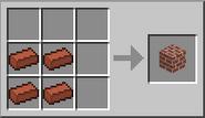 Crafteo de bloque de ladrillo