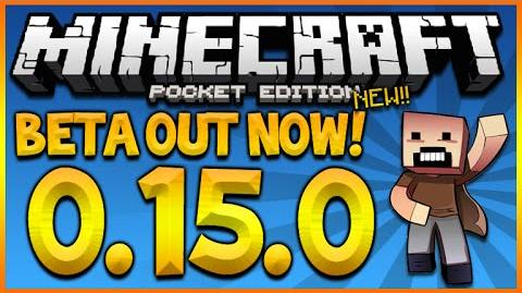 MINECRAFT POCKET EDITION 0.15.0 - BETA OUT NOW! REALMS SERVERS & MORE (BETA 0.15.0)