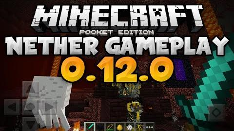 THE NETHER in 0.12.0 - Fortresses, Blazes & More - Update Review - Minecraft PE (Pocket Edition)