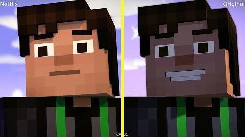 Minecraft Story Mode Xbox One X Original vs Netflix Comparison