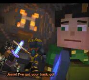 Petra defending Jesse