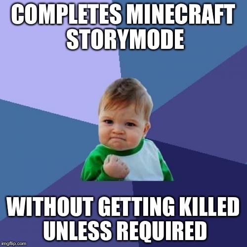 funny minecraft story mode memes