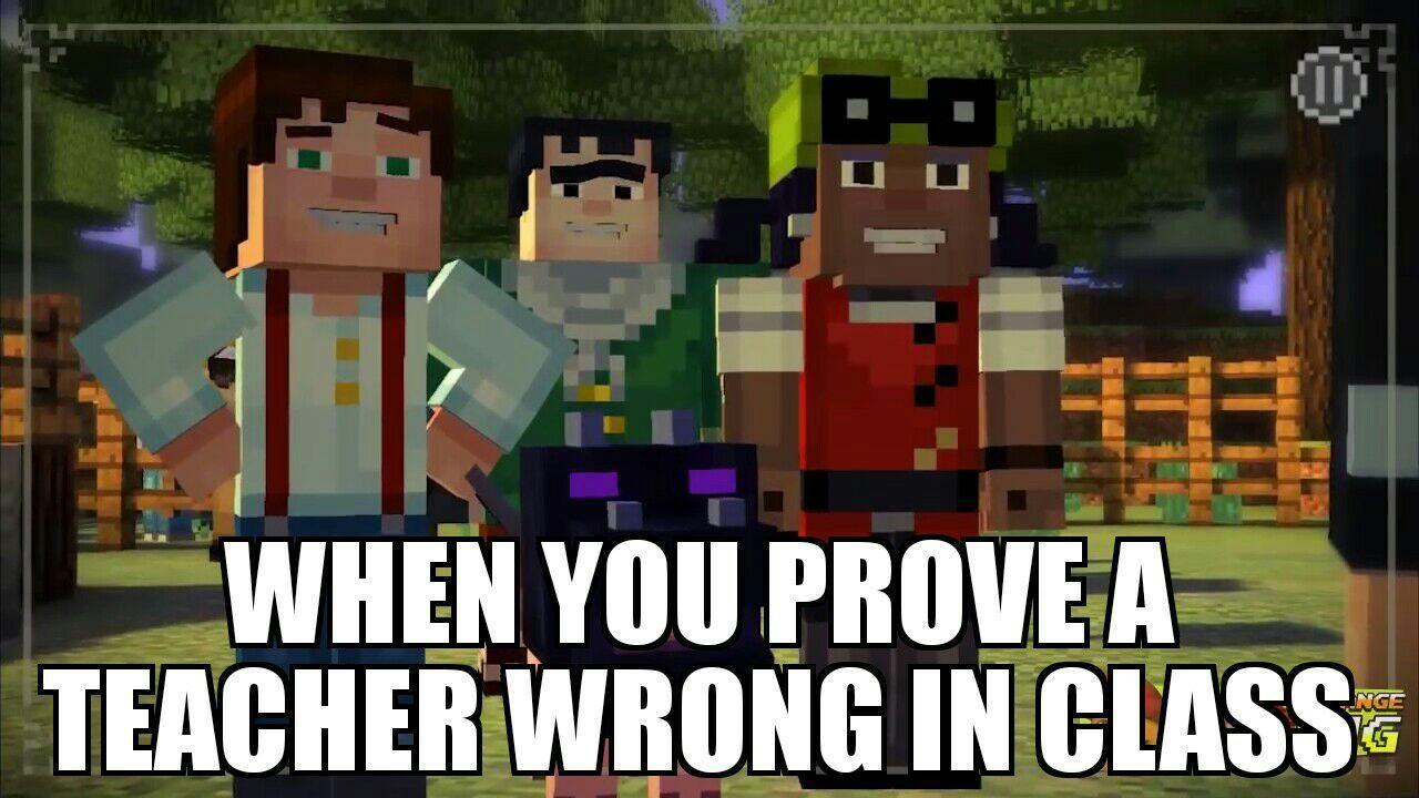 hilarious minecraft story mode memes