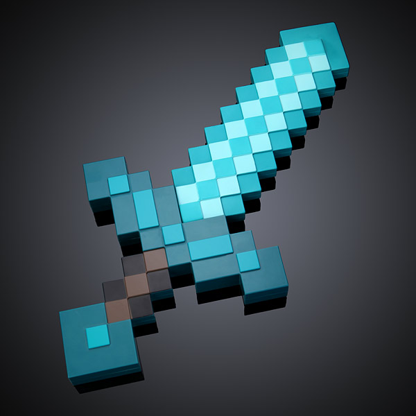 Good Inmt Minecraft Deluxe Diamond Sword Black