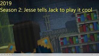 Minecraft Story Mode Season 2 Jesse tells Jack to play it cool