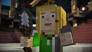 Nell holding an Iron Shovel