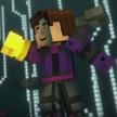 Jesse Holding the Golden Gauntlet