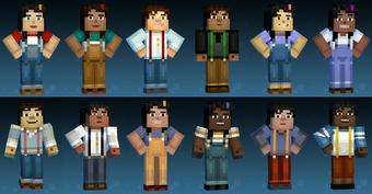 User Blog Guiffi Jesse Jessie Different Color Skin Names Minecraft Story Mode Ships Wikia Fandom