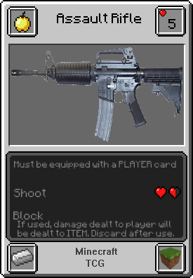 Assault Rifle - Minecraft TCG