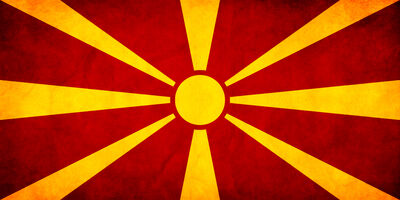 Macedonian Flag Grunge by think0