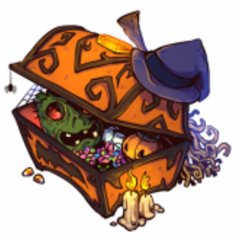 The official artwork for Haunted Treasure