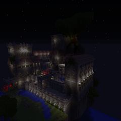 The side view of Sunstone Stronghold.