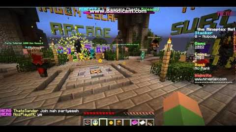 Throwing a Coin Party Bomb In Mineplex!