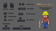 Miner Lou Keyboard Mouse Shortcuts