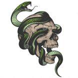 Skull-snake-illustration-vector-white-background-58040955