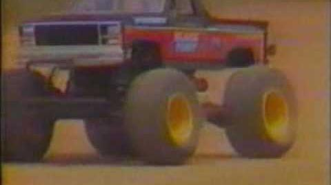 Tamiya Blackfoot RC truck (filmed in 1986)
