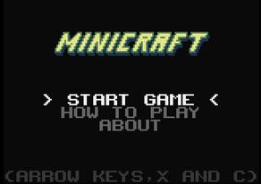 Minicraft Start Page