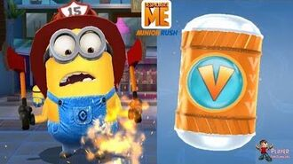 """Despicable Me 2 Minion Rush - Firefighter Minion Open 2 """"Vector Is Back"""" Prize Pod iOS Android"""